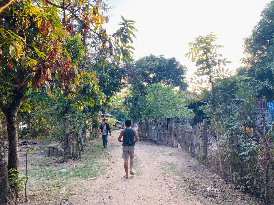 Walking through Ban Chan.