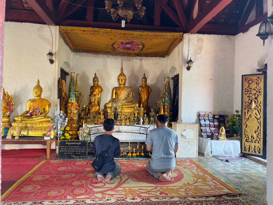 Locals praying.