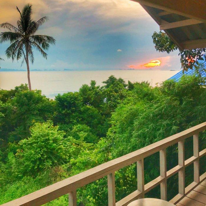 View from my bungalow at Bluerama Hotel, Koh Phangan