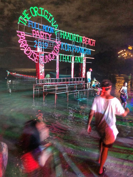 Get wet in the seas at the Full Moon Party.