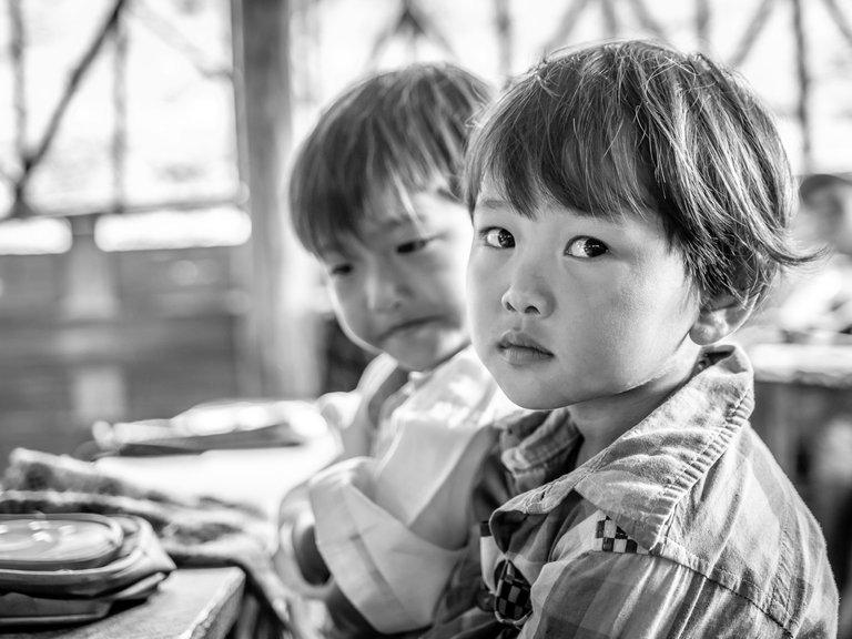 Kids at school in rural Myanmar