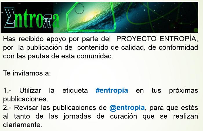 Has sido votado por @entropia
