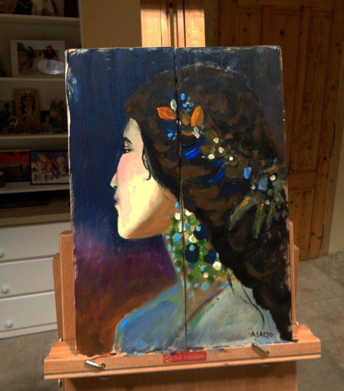 rusztikus festett fa arc portre meska.jpg