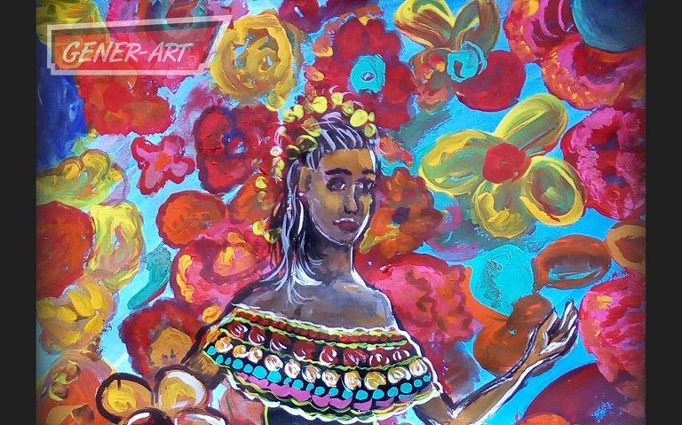 Chica morena mexicana portada hive NFT.jpg