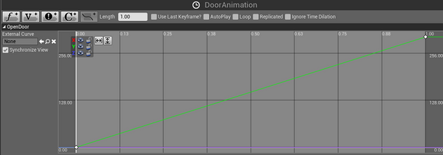 Using a vector graph in Unreal Engine 4 for door animation.png