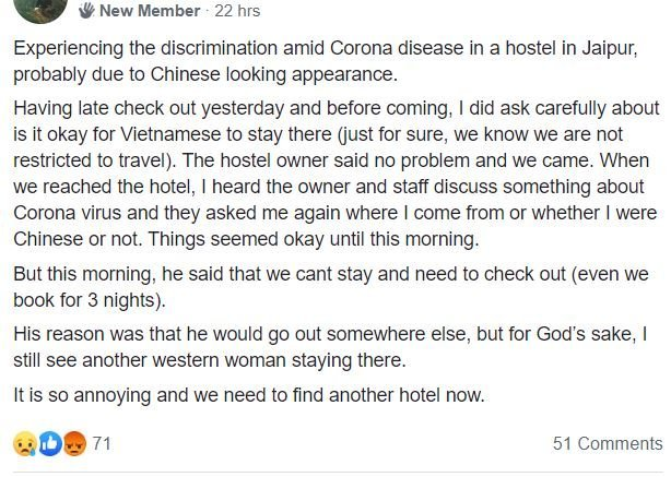 Coronavirus COVID-19 impact in tourists in India