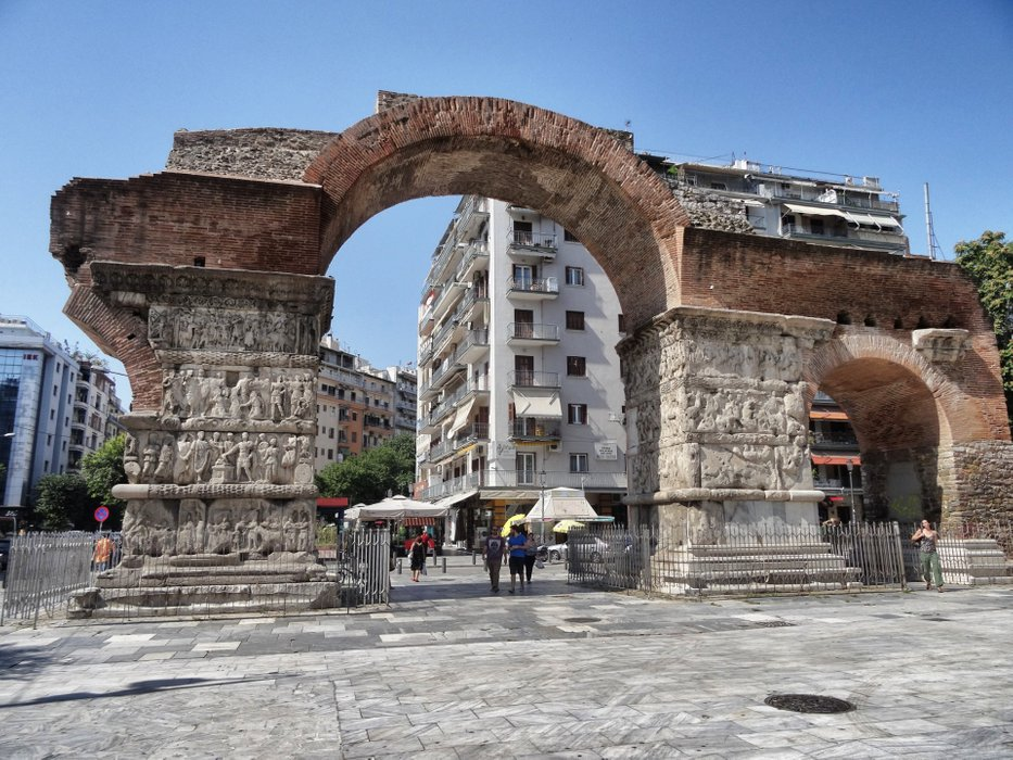 The Arch of Galerius today