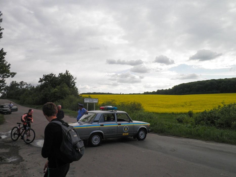 We were escorted by police for safe passage