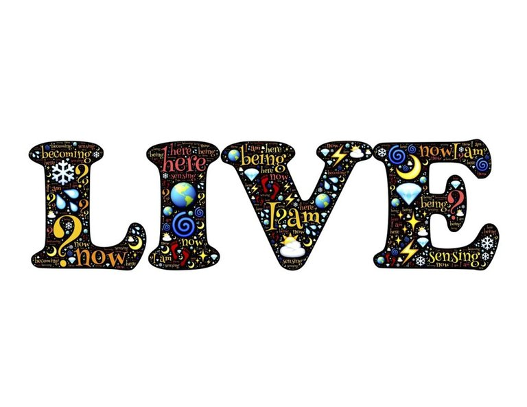live, be, being