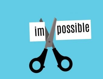 Impossible, Possible, Attitude, Positive, Cut, Two