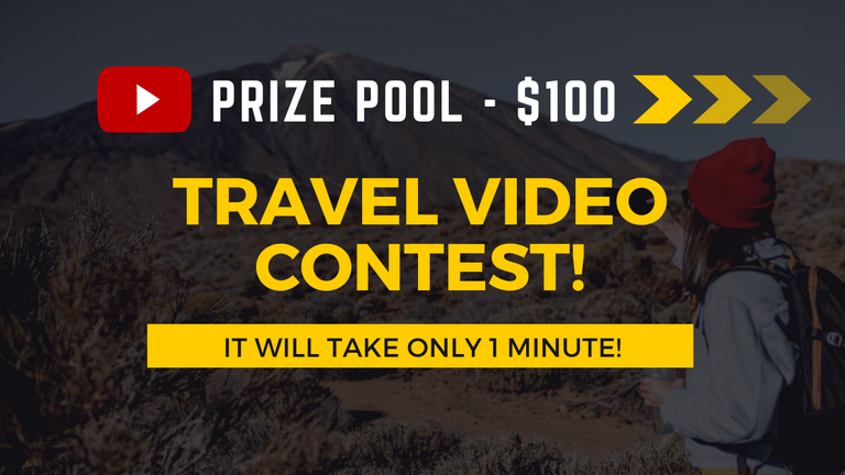 Contest: My best Youtube travel video! (Prize Pool - $100)