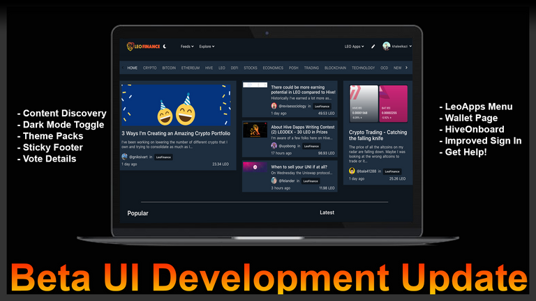 LeoFinance Beta UI Development Update  Content Discovery Reimagined, Themes, HiveOnboarding .png