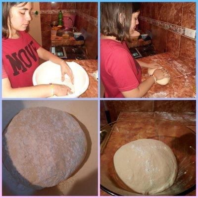 Proceso de amasado/Kneading process.